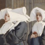 Detail from  Three Nuns in the Portal of a Church - Armand Gautier