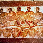 Agape_feast_paleochristian image from the catacombs - public domain in US due to age of art