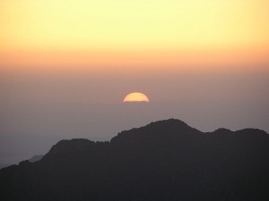 Sunrise on Mt Sinai in Egypt - June2006