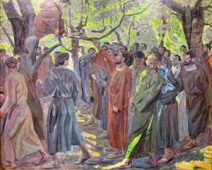 Christ and Zacchaeus - Niels_Larsen_Stevns