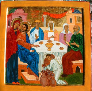 Icon of the Wedding at Cana - Lucia 398 - CC