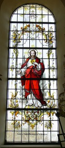 Sacred Heart of Jesus - Fronhofen_Pfarrkirche_Fenster Photo by Andreas Praefcke - public domain