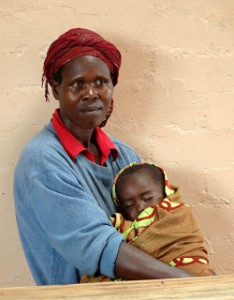 African-mother-child - Mattaw Orphan Village - June 2012