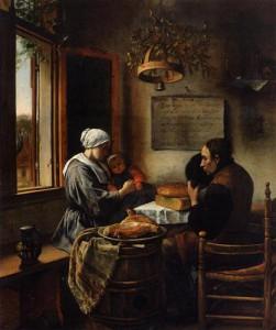 Prayer before meal by Jan Steen -1660