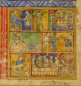 Prodigal Son - Detail of Eadwine Psalter